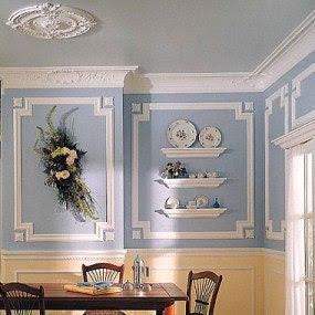 Molduras en la pared decoracion y manualidades - Moldura madera pared ...