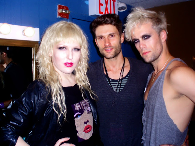 Darian Darling, BB Knox and Justin Tranter at Semi Precious Weapons Perez Hilton Concert