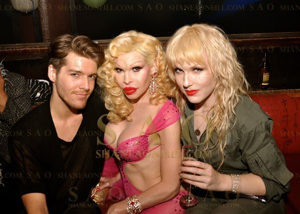Darian Darling and Amanda Lepore at Hiro, Chelsea NYC