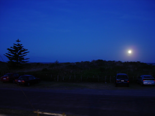 Moon over Waihi Beach