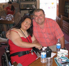 This is Joyce and me at my brother's house before his wedding