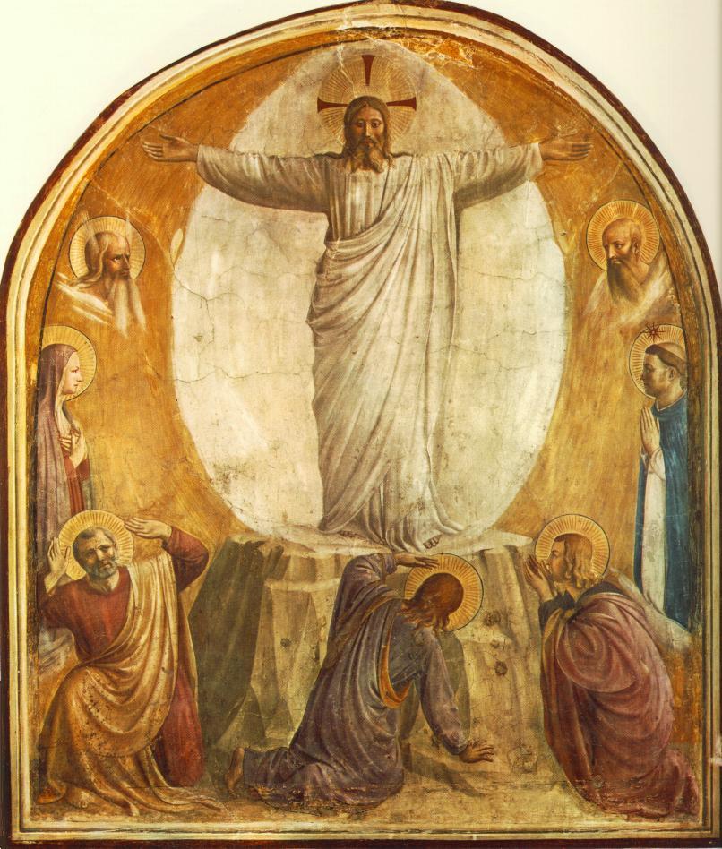 Beato Angelico, Trasfigurazione del Signore dans immagini sacre Fra%2BAngelico%2BTransfiguration%2BConvento%2Bdi%2BSan%2BMarco,%2BFlorence,%2B1440-41