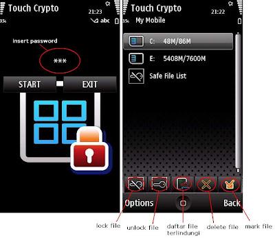 Dengan Touch Crypto , file penting yang tersimpan di dalam ponsel
