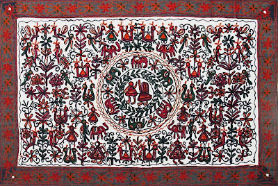 Ethnic indian decor gujarat art and craft - Cloth wall hanging designs ...