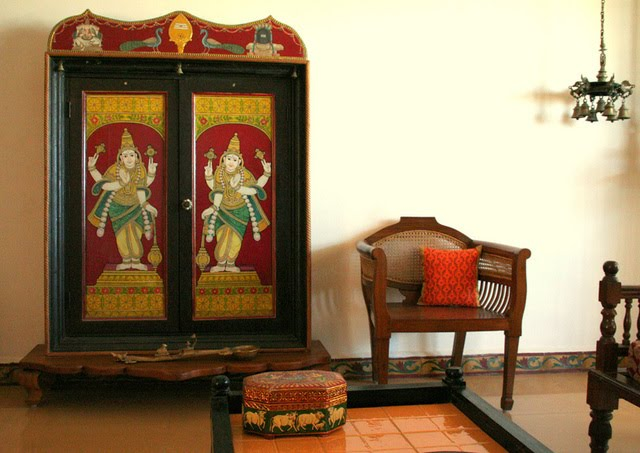 Ethnic indian decor an indian home in bangalore Home furnitures bengaluru karnataka