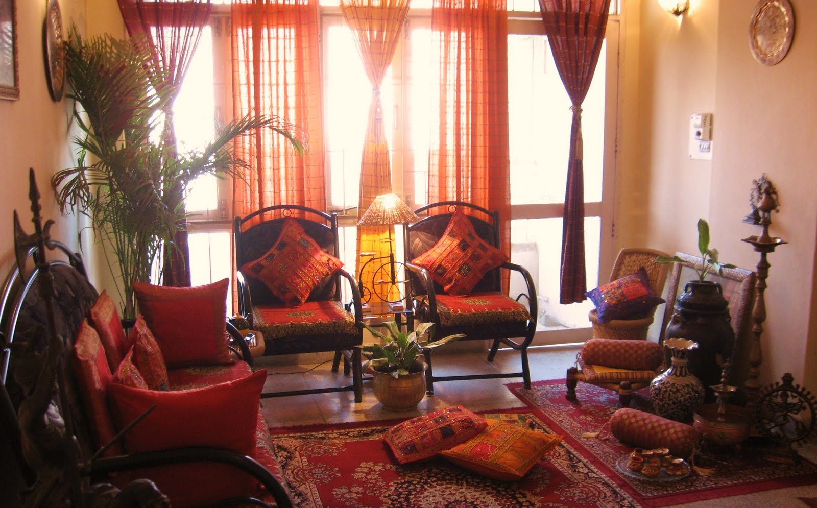 Ethnic indian decor for Interior home decoration