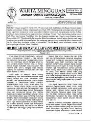 Warta edisi 59 - 2006