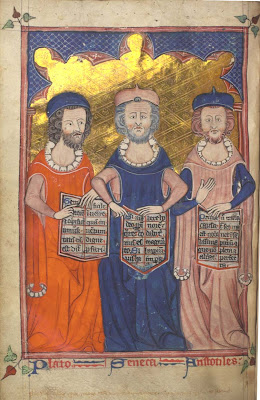Medieval Illumination of Plato, Seneca and Aristotle