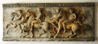 soldati greci - bassorilievo