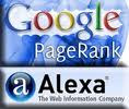 alexa, google page rank