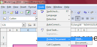 membuka protect pada openoffice.org calc