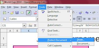 membuka protect pada openoffice.org calc