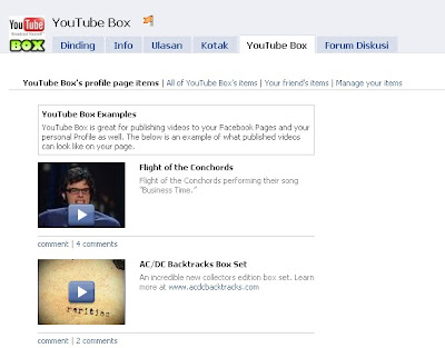 aplikasi facebook youtube box
