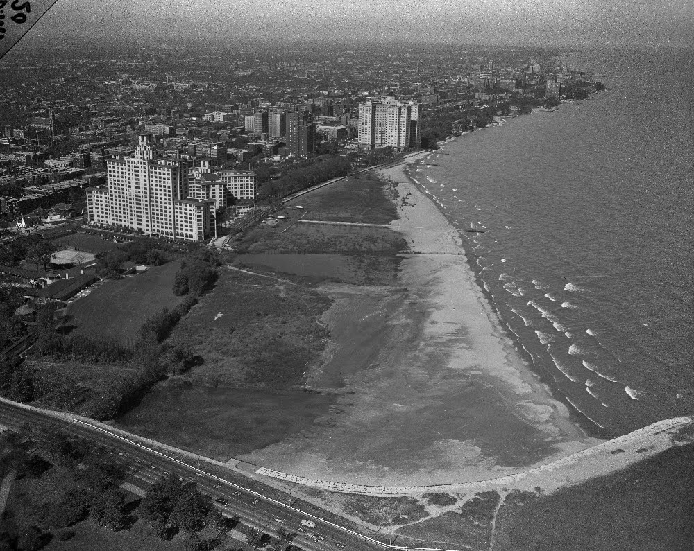 Uptown Chicago History Aeriel Edgewater Chicago From