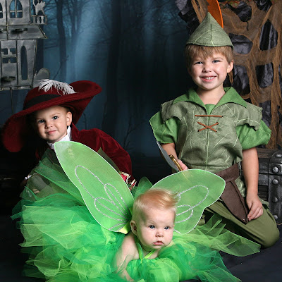 image of peter pan, captain hook and tinkerbell