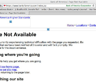 001- Bank of America website is down as of 12:17 PST