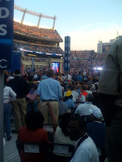 At Deligate Area - Invesco Field - Barack Obama