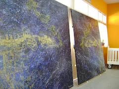 El mural mide 2 mts. por 4 mts.,acrílico