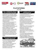 REIVINDICACIONES PARA LA HUELGA