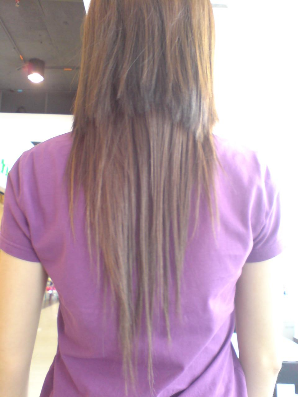 Long Hair with a V Shape Cut at the Back  Women Hairstyles