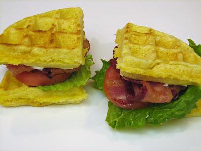 cheddar cornmeal waffle blt s