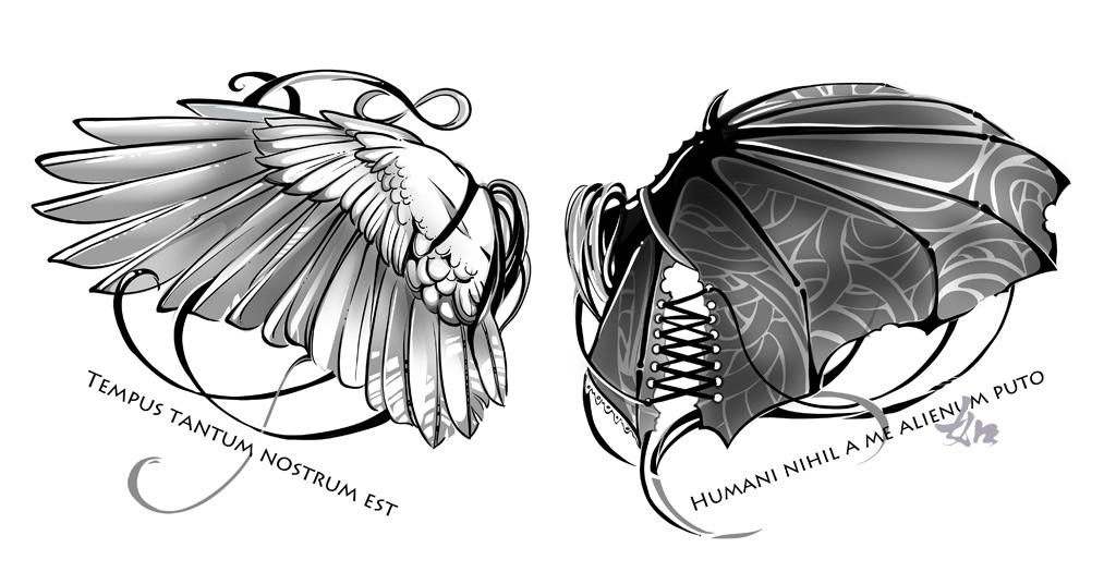 тату рисунки крылья