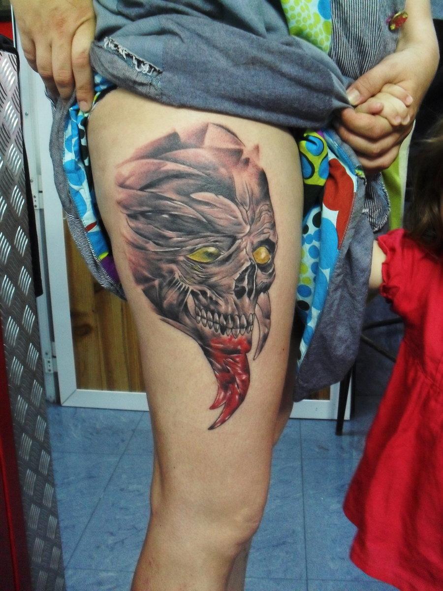 татуировки на ноге мужчины - Фото тату на ноге