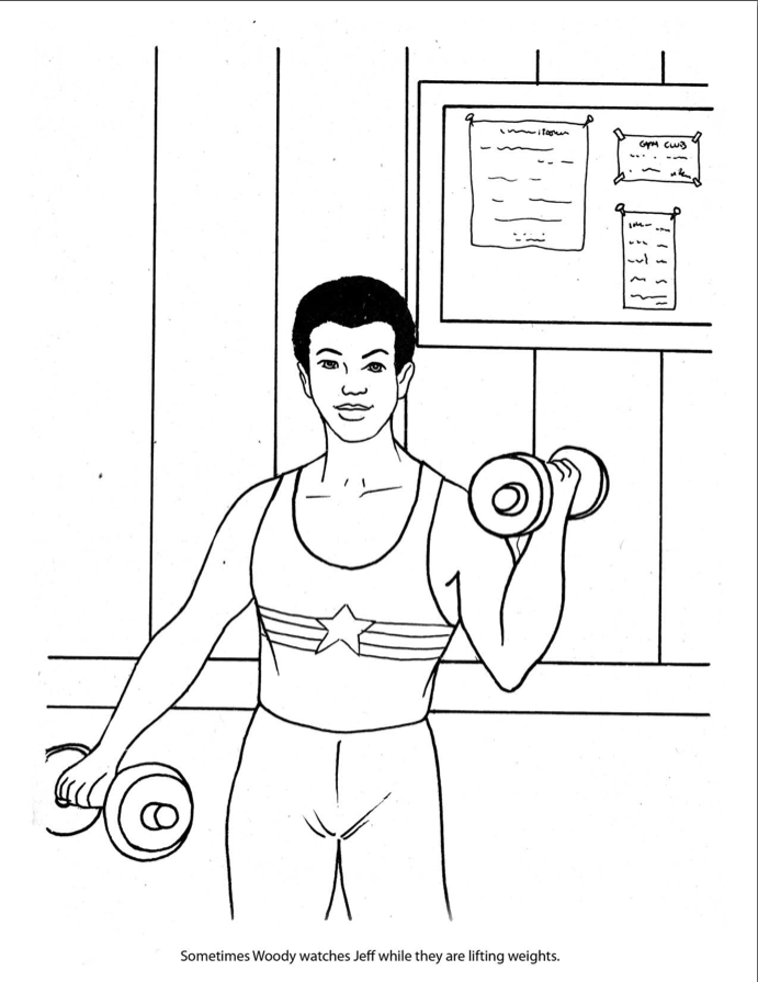 this just might be the most epic mid 1980s coloring book with its captions changed to increase self confidence among teenage homosexual gymnasts ever