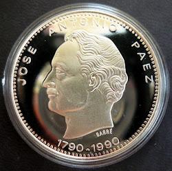 Moneda Conmemorativa de los 200 años del Nacimiento de Páez