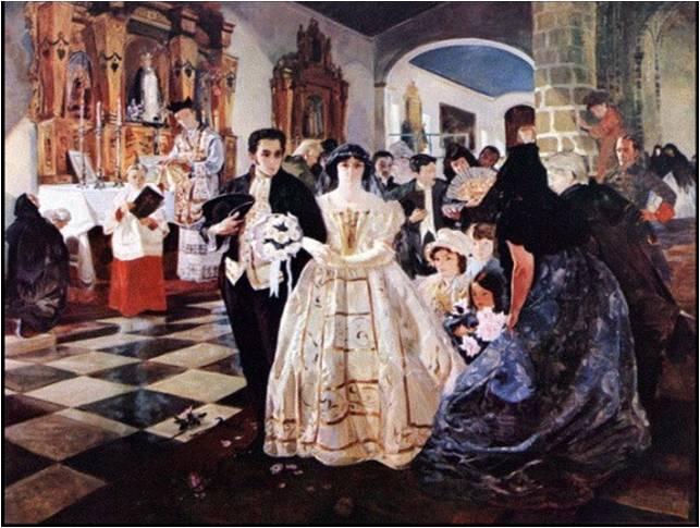 1802 Boda de Simón Bolívar Tenía 18 años y su Novia 21