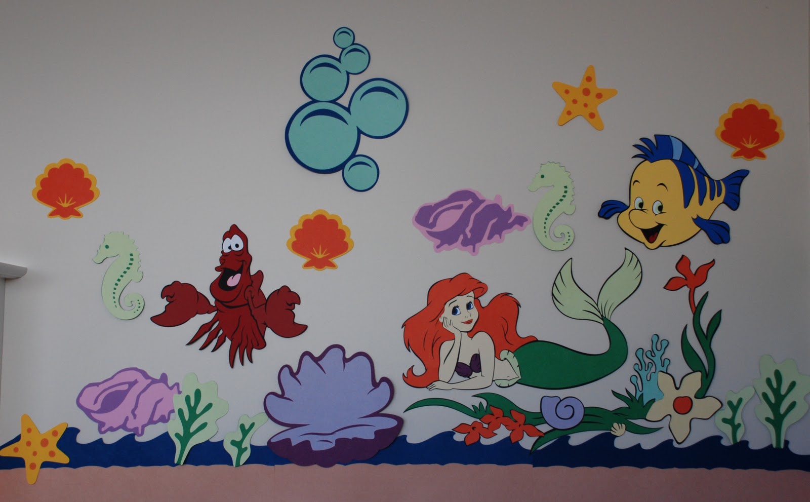My craft empire wall decor a little out of control ariel and the castle are made as big as i could with 12 x 24 paper i mainly used the 12 x 24 cricut paper for all of this amipublicfo Images