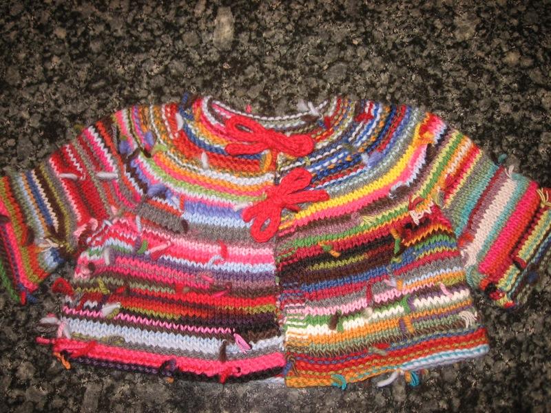 Bonito Knitting Patterns For Scrap Yarn Patrón - Manta de Tejer ...