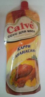 Соус «Calve» «Карри с ананасами»