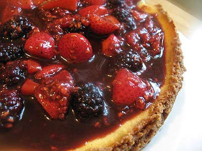 Ricotta Cheesecake with Mixed Berries and Balsamic Vinegar