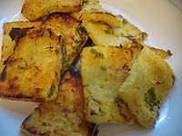 saffron-marinated paneer cheese