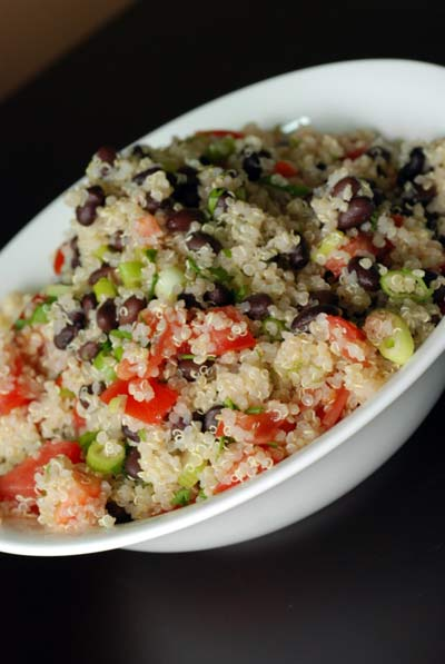 Black Bean and Tomato Quinoa Salad
