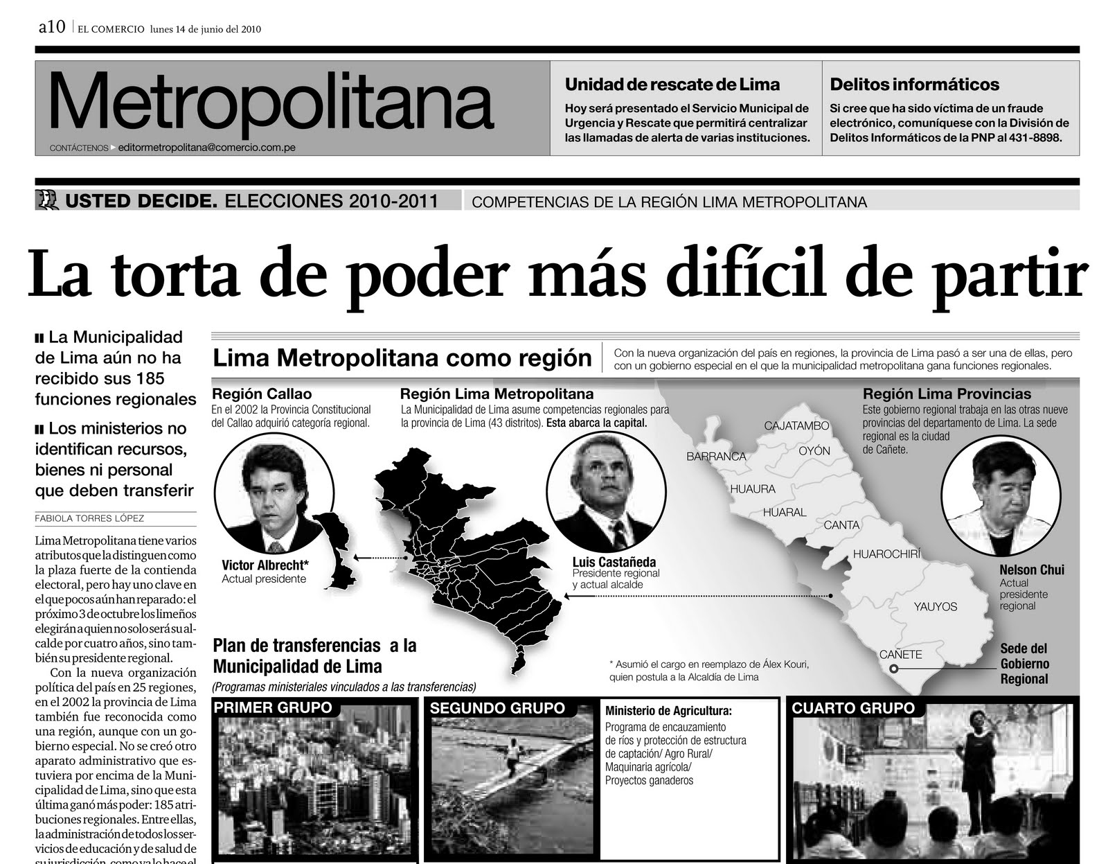 """""""El Comercio"""" publica que Cañete es la sede del GRL y ninguna autoridad huachana le enmienda la plana"""
