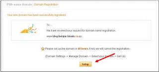 registered domain sukses