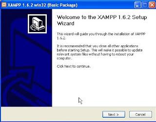 install XAMPP Next