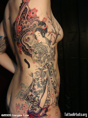 geisha tattoo designs. Geisha Tattoo Designs