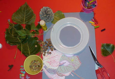 toddler crafts fall wreath materials