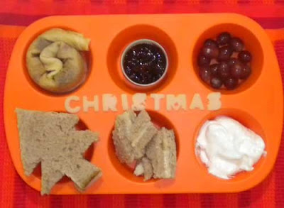 Muffin Tin Meal Christmas theme