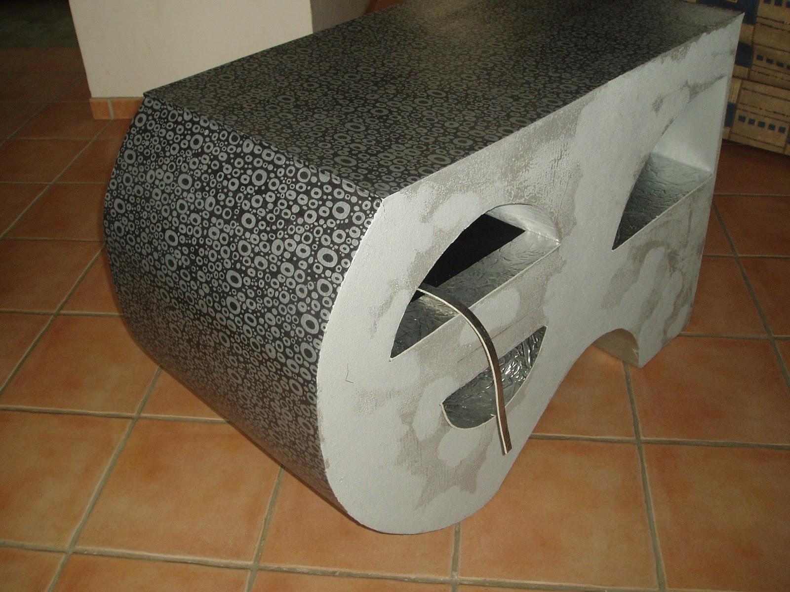 Meuble En Carton Atsugami Meuble Tele En Finition Papier Enduit Cuir