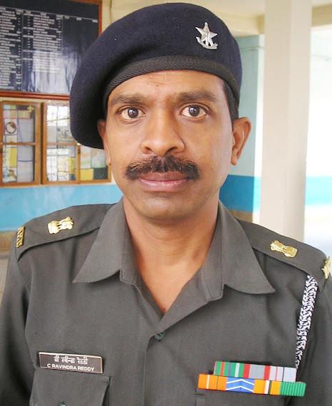 Lt Col Ravindra Reddy in the Academic block