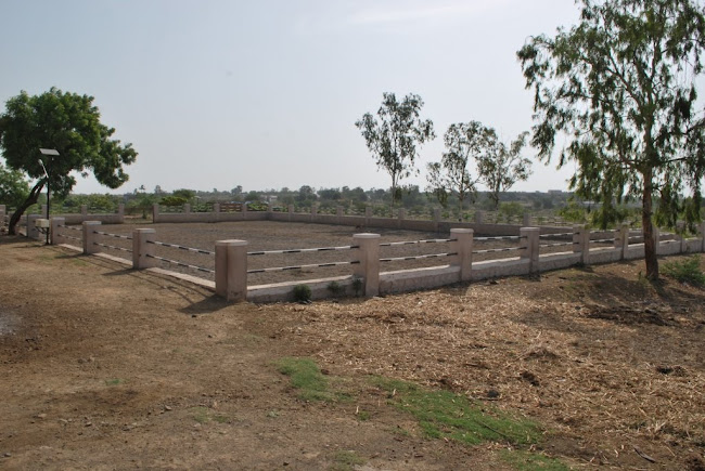 Horse riding training arena