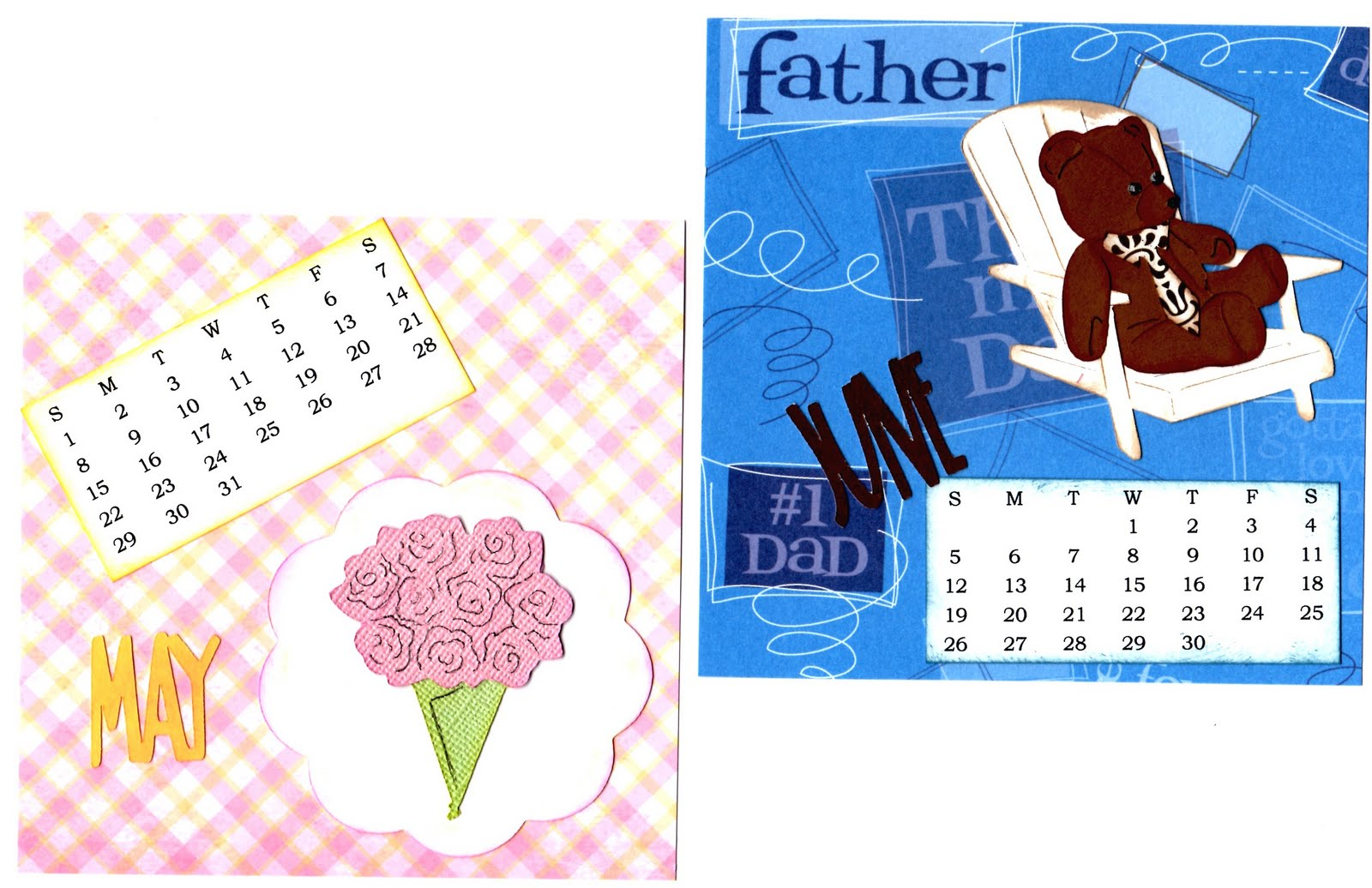 Calendar Spot May : My little spot of sanity cd calendar march through
