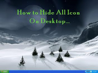 Quick &amp; Easy Way to Hide all Icons on Desktop