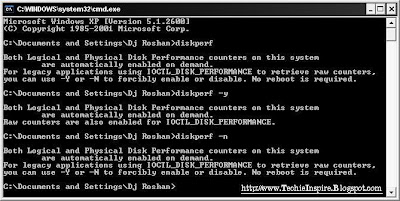 TURN OFF DISK PERFORMANCE MONITOR CHECK