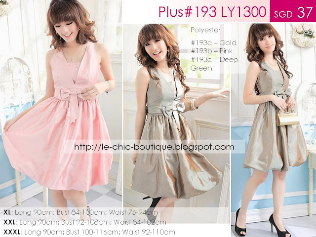 Plus#193 LY1300 Deep V Halter Bubble Dress