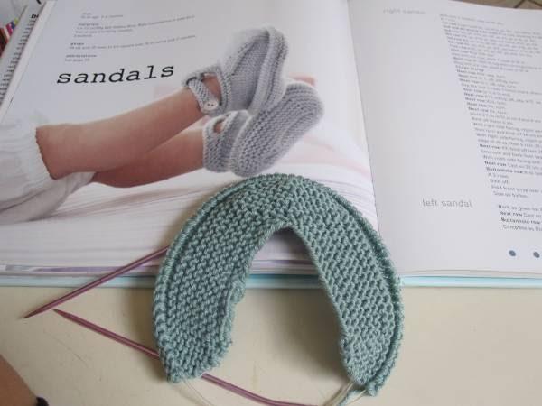 Sittin Knittin Debbie Bliss Sandal Booties Booties Blankets